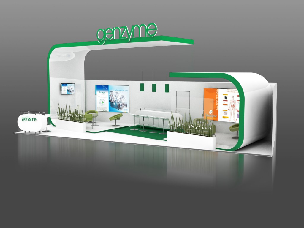 STAND GENZYME 3D